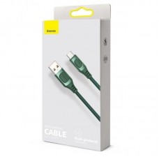 Кабель Baseus Flash Multiple Fast Charge Protocols Convertible Fast Charging Cable USB For Type-C 5A 1m (CATSS-A06) - Green