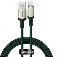 Кабель Baseus Cafule cable (suppport VOOC) USB for Type-C 1m (CATKLF-VA06) - Green