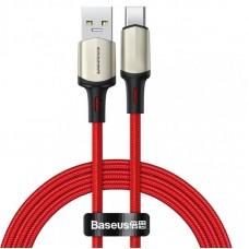 Кабель Baseus Cafule cable (suppport VOOC) USB for Type-C 1m (CATKLF-VA09) - Red