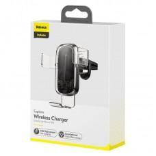Автодержатель с беспроводной зарядкой Baseus Explore Wireless Charger Gravity Car Mount (15W ) (WXYL-K02) - Transparent