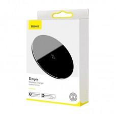 Беспроводная зарядка Baseus Simple Wireless Charger 15W (Updated Version for Type-C) (WXJK-B01) - Black