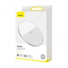 Беспроводная зарядка Baseus Simple Wireless Charger 15W (Updated Version for Type-C) (WXJK-B02) - White