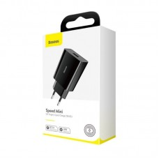 Сетевой адаптер Baseus Speed Mini QC single U Quick Charger 18W EU (CCFS-W01) - Black