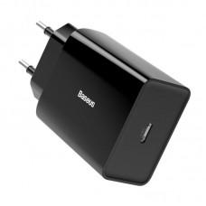 Сетевой адаптер Baseus Speed Mini PD single Type-C Quick Charger 18W EU (CCFS-X01) - Black