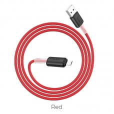 Кабель hoco X48 Soft silicone charging data cable for Micro - Red