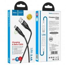Кабель hoco U93 Shadow charging data cable for Micro - Black