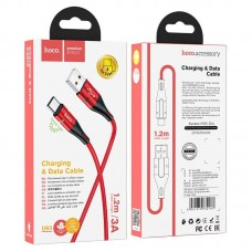 Кабель hoco U93 Shadow charging data cable for Type-C - Red
