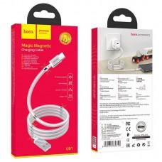 Кабель hoco U91 Magic magnetic charging cable for Type-C - White