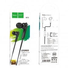Наушники hoco M72 Admire universal earphones with mic - Black