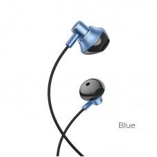 Наушники hoco M75 Belle Universal earphones - Blue