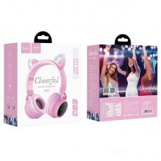 Наушники hoco W27 Cat ear wireless headphones - Pink
