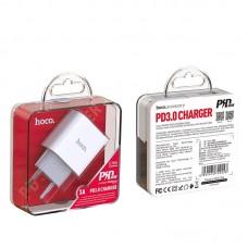 Сетевой адаптер hoco C76A Speed source PD3.0 charger (EU) - White