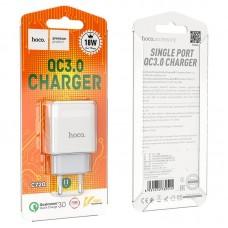 Сетевой адаптер hoco C72Q Glorious single port QC3.0 charger (EU) - White