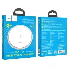 Беспроводная зарядка hoco CW26 Powerful 15W wireless fast charger - White