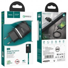 Сетевой адаптер N3 Special single port QC3.0 charger set (Micro) (EU) - Black