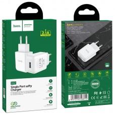 Сетевой адаптер hoco N2 Vigour single port charger (EU) - White