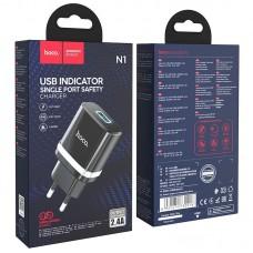 Сетевой адаптер hoco N1 Ardent single port charger (EU) - Black