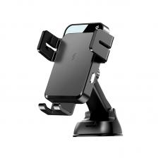 """Держатель для телефона с беспроводной зарядкой Joyroom JR-ZS219 """"Instrument panel"""" - Black"""