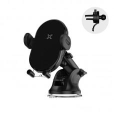 """Держатель для телефона с беспроводной зарядкой Joyroom JR-ZS200 """"Instrument panel"""" - Black"""