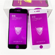 """Защитное стекло """"OG"""" для Iphone 7/8 - Black"""