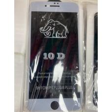 "Защитное стекло 10D ""Black"" для Iphone 7/8 Plus - White"