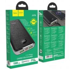 Power Bank hoco J69A Speed flash PD + QC3.0 15000mAh - Black