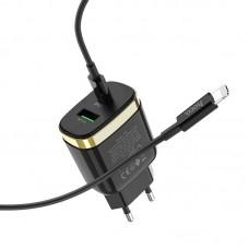 Зарядка hoco C79A Type-C Lightning PD+QC3.0 - Black