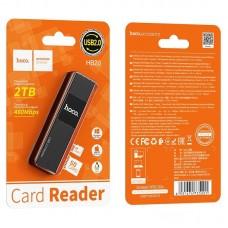 Картридер hoco HB20 Mindful 2 в 1 USB2.0