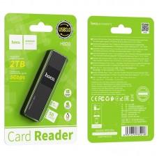 Картридер hoco HB20 Mindful 2 в 1 USB 3.0