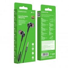 Наушники Borofone BM52 Revering wired earphones with microphone - Black
