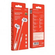 Наушники Borofone BM52 Revering wired earphones with microphone - White