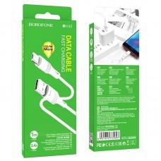 Кабель Borofone Micro BX43 CoolJoy - White