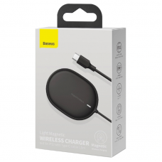 Беспроводная зарядка Baseus Light Magnetic Wireless Charger (suit for IP12 with Type-C cable 1.5m) (WXQJ-01) - Black