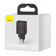 Сетевой адаптер Baseus Super Si Quick Charger 1C 20W EU (CCSUP-B01) - Black