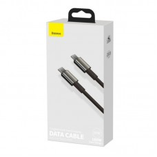 Кабель Baseus Tungsten Gold Fast Charging Data Cable Type-C to Type-C 100W 2m (CATWJ-A01) - Black