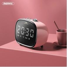 Колонка REMAX Alarm Bluetooth Speaker RB-M52 - Pink