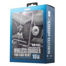 Держатель для телефона REMAX automatic CAR HOLDER WITH wireless charger RM-C42 - Black