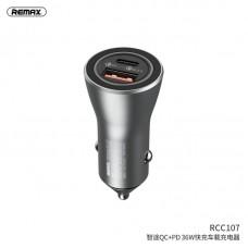 Автомобильное ЗУ REMAX ZHITU QC+PD 36W car charger RCC-107 - Silver