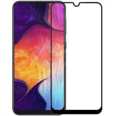 """Защитное стекло """"Full Glue"""" для Samsung A50S - Черный (тех.пак)"""
