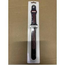 Ремешок Спортивный Apple Watch 38/40mm - Черно/Красный