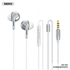 Наушники REMAX double moving coil frequency division Earphone RM-595 - Silver