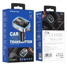 Автомобильное зарядное устройство и FM-передатчик Borofone BC32 Sunlight - Black