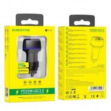 Автомобильное зарядное устройство Borofone Z14A Mercury PD 20W + QC3.0 - Black