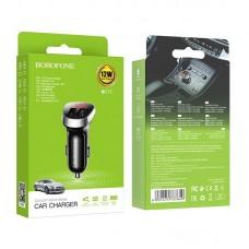 Автомобильное зарядное устройство Borofone BZ15 - Black