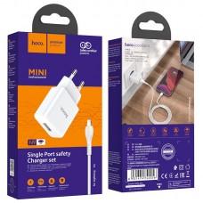 Зарядное устройство hoco N9 Especial EU набор с кабелем Lightning - White