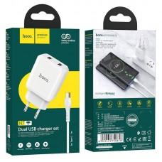 Зарядное устройство hoco N7 Speedy EU набор с кабелем Type-C - White