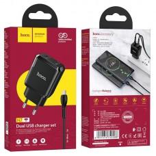 Зарядное устройство hoco N7 Speedy EU набор с кабелем Micro - Black