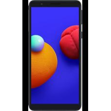 Защитное стекло Full Glue для Samsung A01 Core - Black