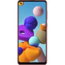 Защитное стекло Full Glue для Samsung A21 - Black