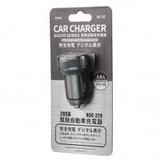 Автомобильное ЗУ Remax Car Charger SuchySeries RCC-229 - Black